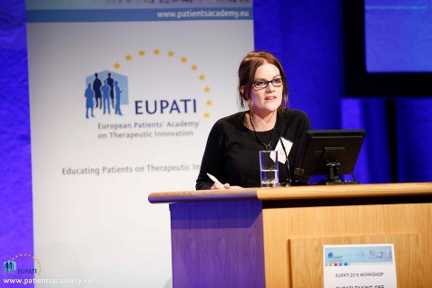 Picture of EUPATI National Platforms Coordinator, Laura Kavanagh from Ireland.