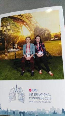 EUPATI Fellow Joan Jordan at the ERS International Congress